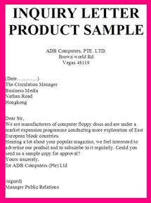Sle Letter For Product Quotation Inquiry Letter Product Sle Sle Reply Letter