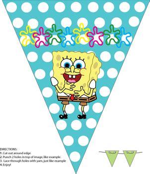 printable spongebob happy birthday banner banner spongebob party decorations free printable