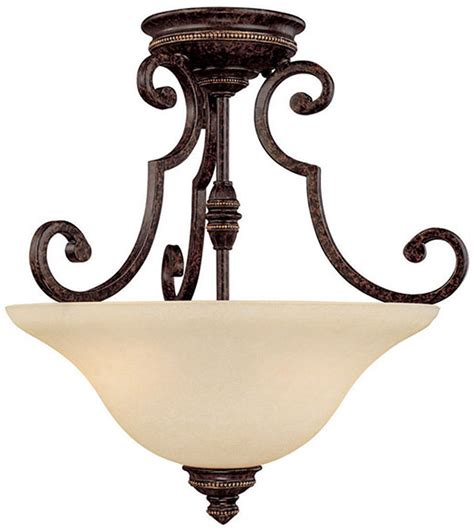 Traditional Semi Flush Ceiling Lights Capital Lighting 3588cb Barclay Traditional Chesterfield Brown Semi Flush Flush Ceiling Light