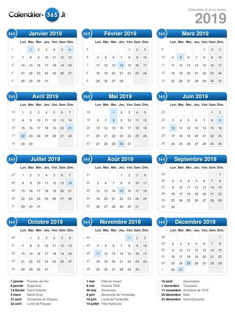 Vacances Scolaires 2019 Calendrier 2019