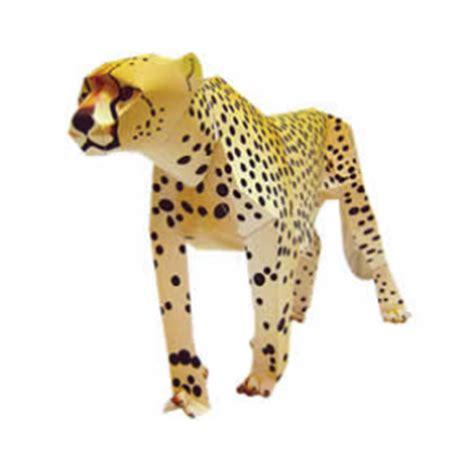 Leopard Origami - actividades manuales de guepardo de papel 3d es