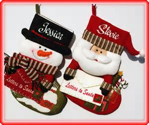 Personalised christmas stockings quot letter to santa quot
