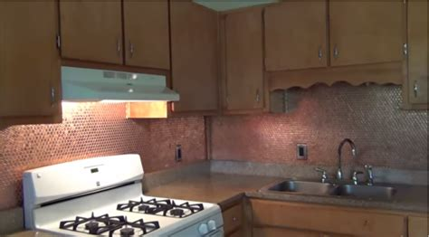 7 Amazing Uses For A Copper by Amazing Diy Backsplash This Use Of Copper Is Simply