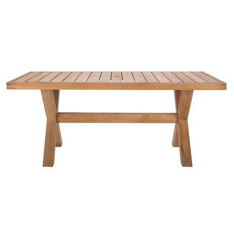 outdoor rectangular dining table home decorators collection naples teak rectangular outdoor