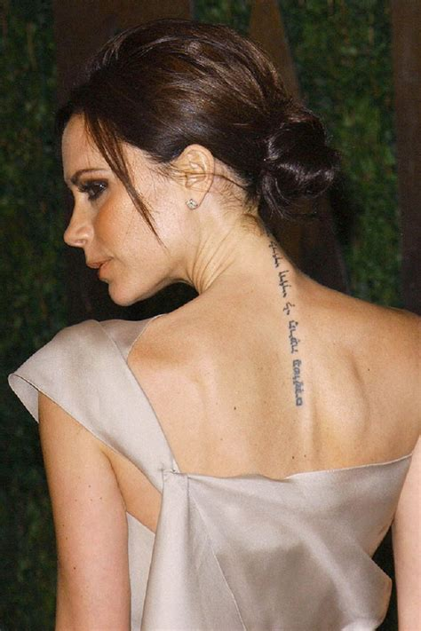 victoria beckham wrist tattoo mc lokko s top 10 tattoos