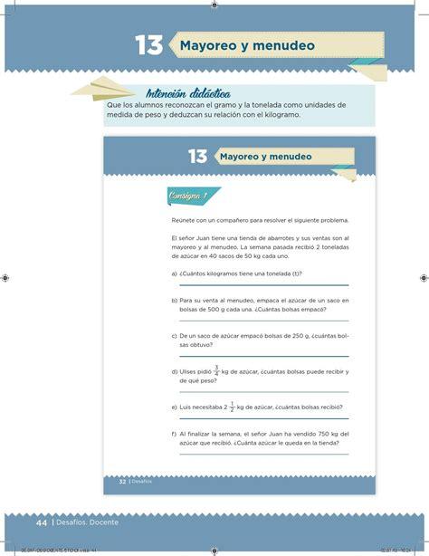 issuu libro de matemticas contestado desaf 237 os docente 5 176 primaria by escuelas de tiempo
