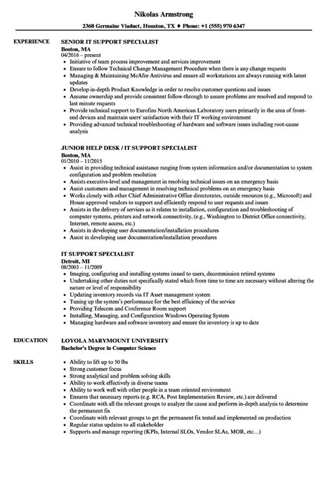 It Support Resume by It Support Resume Exles Sanitizeuv Sle