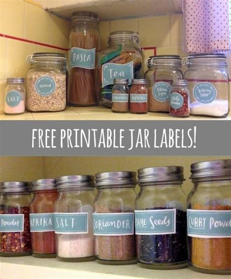 Pantry Jar Labels by Free Printable Jar Labels To Organize Your Pantry By