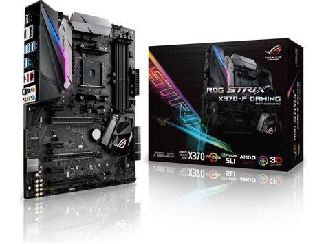 Asus Rog Strix X370f Gaming asus rog strix x370 f gaming amd ryzen atx rgb motherboard