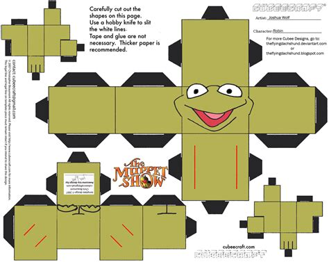 Papercraft Shows - muppets 5 robin cubee by theflyingdachshund on deviantart