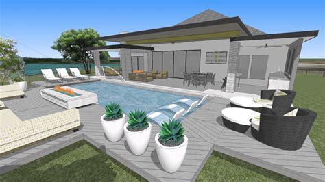 backyard oasis frisco frisco lakes flw inspired outdoor oasis rev 2 youtube