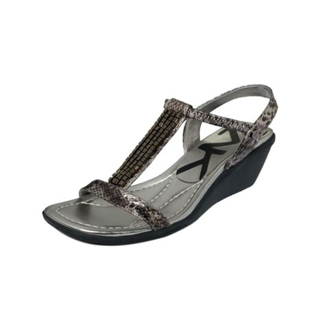 sport wedge shoes klein missie sport wedge sandals in gray pewter lyst