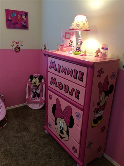 Minnie Mouse Nursery Decor by Custom Minnie Mouse Dresser Minnie Mouse Nursery