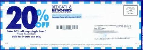 bed bath beyond 20 percent coupon bed bath beyond coupons frugal this