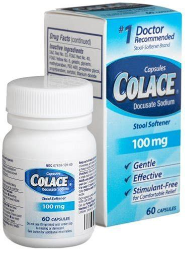 Stool Softener Side Effects by Colace 100mg Docusate Sodium Side Effects Dosage