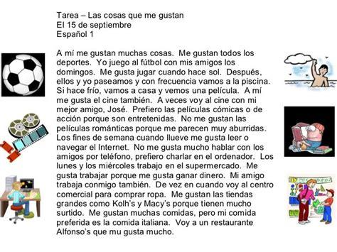 e spanish for free texto para practicar el verbo quot gustar quot prof de espa 241 ol