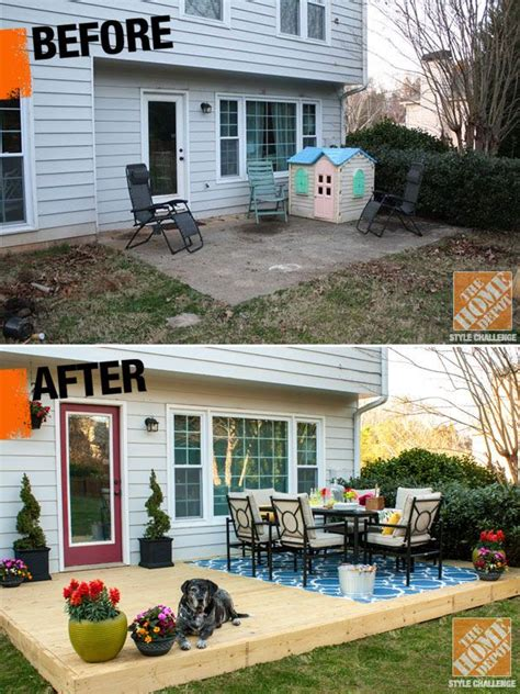 Small Backyard Ideas Before After Small Patio Decorating Ideas By Of View Along The Way Decking Detail And Patio Makeover