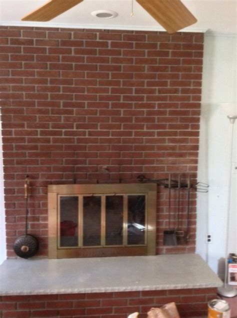 What To Do With Brick Fireplace by What To Do With Maroon Brick Fireplace