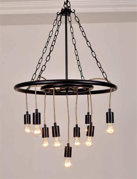 Edison Chandelier Bulbs Post Modern Iron Edison Bulbs Chandelier Contemporary Chandeliers New York By