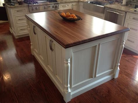 cheap kitchen island with walnut wooden floor and white