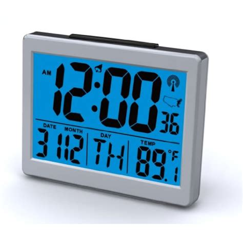 bedroom clocks geekshive atomic desk or bedroom alarm clock 1 5