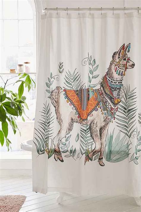 magical thinking shower curtain magical thinking fancy llama shower curtain urban outfitters