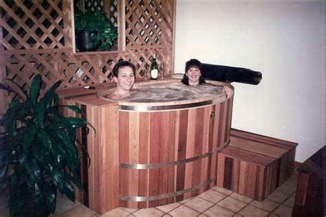 Small Spa Tub Our Smallest Cedar Tub Is The Quot Tub For Two Quot