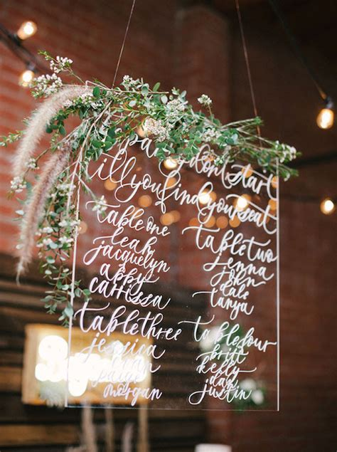 hot acrylic wedding ideas modern weddings
