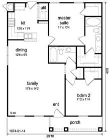 plan for house craftsman style house plan 2 beds 2 baths 1074 sq ft