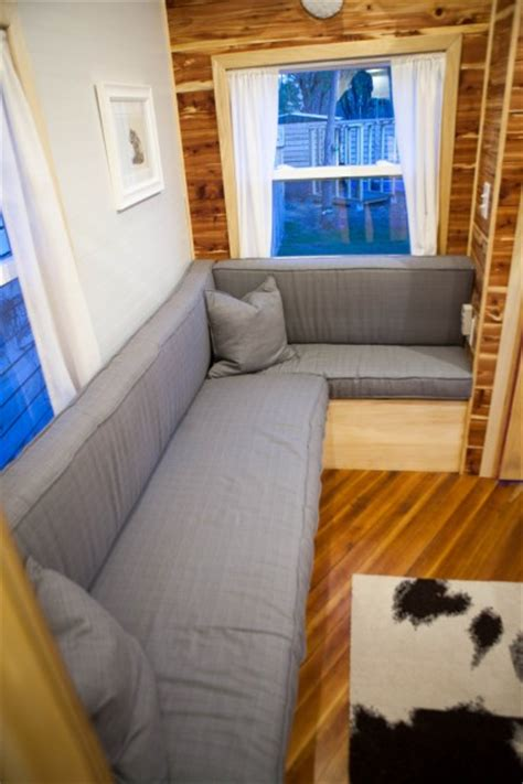 tiny couch custom designed built midwest tiny house