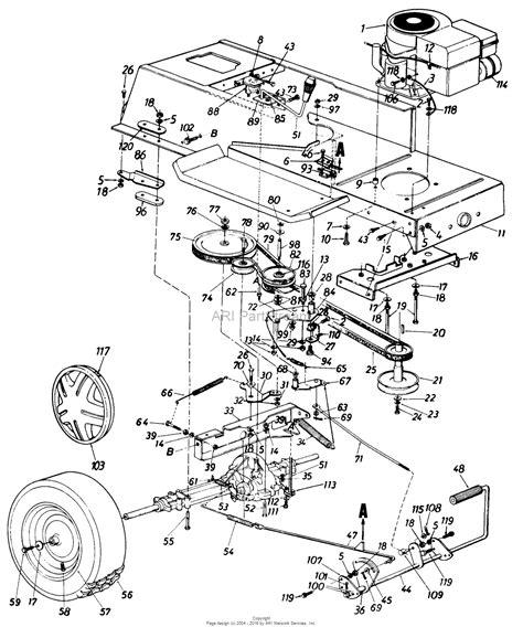 cub cadet lawn mower parts diagrams cub cadet parts lookup images