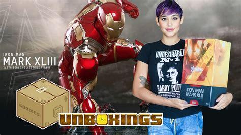 hot toys iron man mark xliii unboxing youtube
