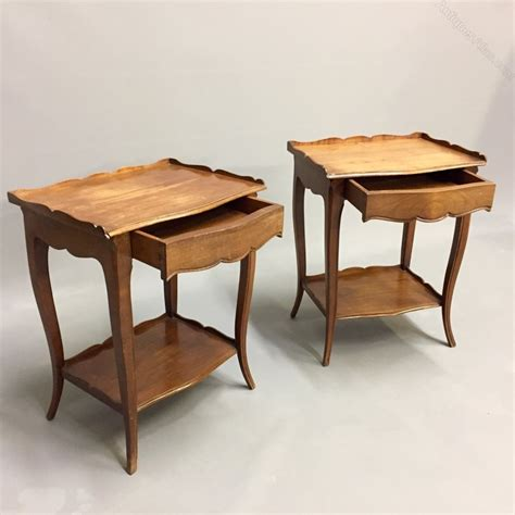antique wood end pair of french cherry wood antiques atlas