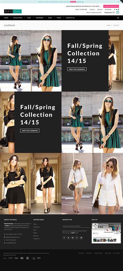 shopify themes lookbook responsive shopify theme fashion