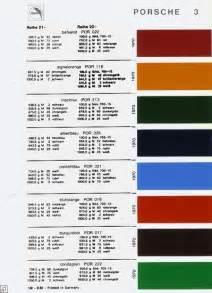 Porsche Paint Codes Porsche 356 Paint Color Codes Car Interior Design