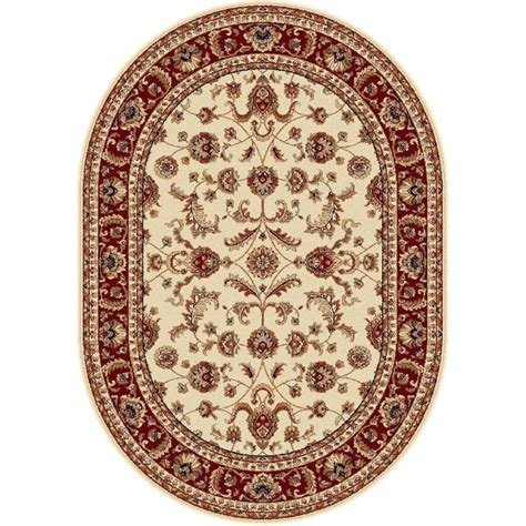 7 x 9 oval area rugs tayse rugs sensation beige 6 ft 7 in x 9 ft 6 in oval transitional area rug 4792 ivory 7x10