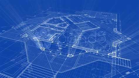 Blue Print Of House by Architecture Blueprint Stock Video 765691 Hd Stock Footage