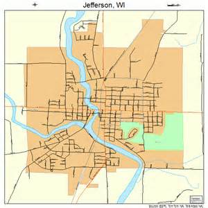 jefferson wisconsin map 5537900