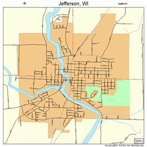 map of jefferson jefferson wisconsin map 5537900