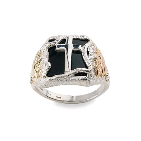 Mens Silver Ring With Black by Black Gold S Eagle Ring