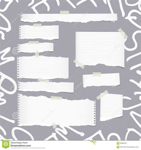 pattern recognition letters paper ripped white ruled note notebook copybook paper sheets