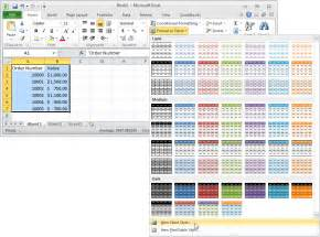 How To Change Table Style In Excel Ms Excel 2010 Automatically Alternate Row Colors Two