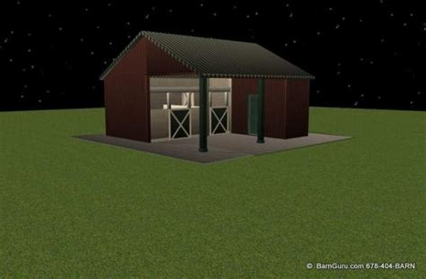 stall shed row horse barn double