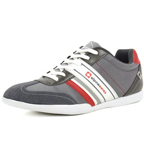 casual sneakers mens alpineswiss ivan mens tennis shoes fashion sneakers retro