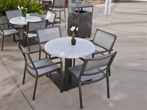 Tropitone Stoneworks Faux Granite Stone 42 Round Solid Faux Patio Table Tops