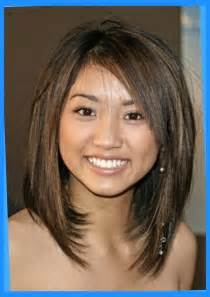 medium length hairstyles for narrow faces medium length layered haircuts for round faces comely