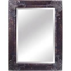 silver bathroom mirrors shop yosemite home decor 44 1 2 in h x 32 5 in w antique