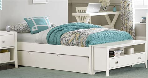 White Bed With Trundle by Pulse White Platform Bed With Trundle From Ne