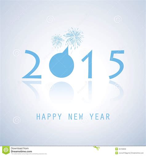 new year card 2015 vector new year card 2015 stock vector image 45759630