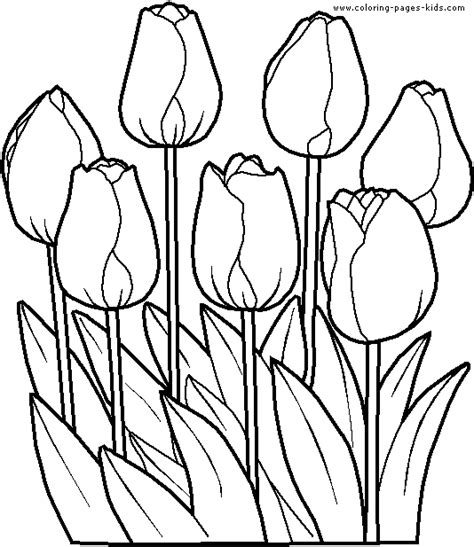 coloring pages for kids tulip coloring pages for kids